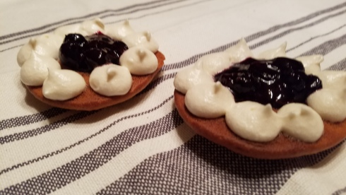 blueberry surprise on lemon whoopie pie